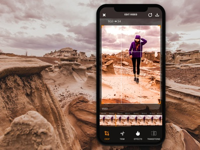 Video Editing App designs, themes, templates and