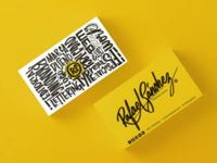 Business card / Rafael Sanchez ▪ Graphic designer