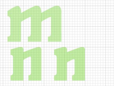 mnn fonts typography vector illustrator