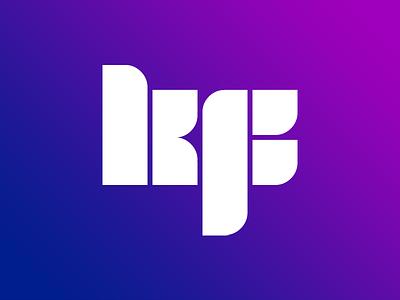 Leafy KF purple blue gradient wordmark