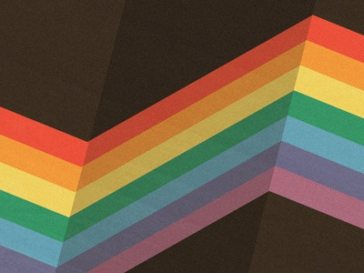 Bendy illustrator rainbow brown