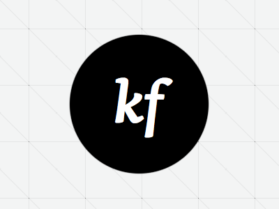 KF Wordmark (serif) wordmark dot black and white logo skolar