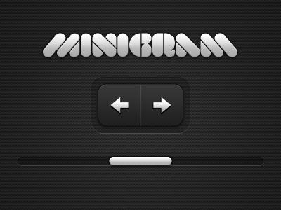 minigram dark ui buttons