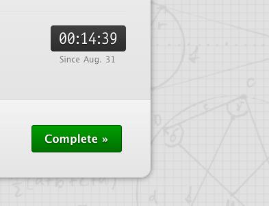 Clock-like testflight css3 buttons clock