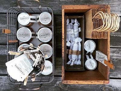 Dear Caramel packaging logo farmers market caramel