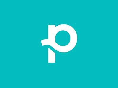 Planted Abbreviated Logo stamp logomark icon logo abbreviated planted p