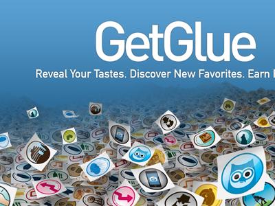 Getglue Promo getglue glue blue stickers dropshadow floating