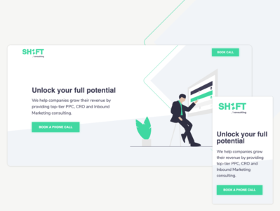 SH1FT Consulting inbound marketing cro ppc montreal sh1ft mockup mobile page web page agency services consulting uxdesign ux design ux ui  ux uiux uidesign ui design ui