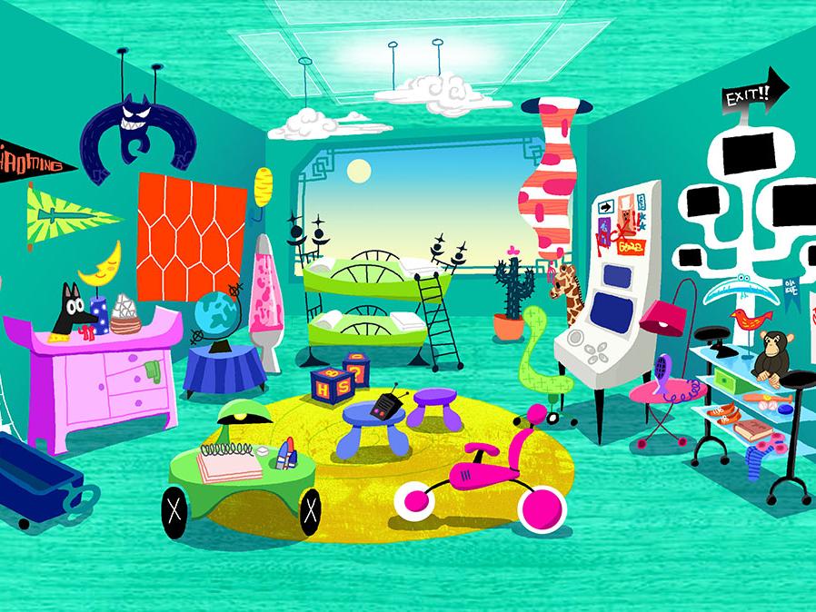 background illustration 'Chaoming' background art animation art direction vector design illustration adobe photoshop