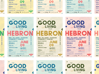 The Good Living Tour: Poster Colors