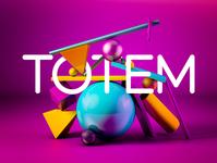 Diseño de Totem 3D - maxon cinema 4D - adobe photoshop