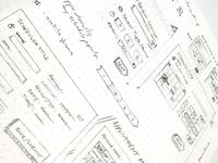 Scheduling UI Sketch