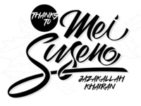 """Thank you for """"Mei Suseno"""". Now I am a Dribbble player"""