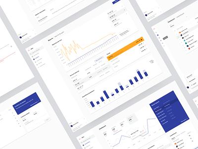 Atlas webapp chart credit ux ui graph graphs illustration finance fintech dashboard minimal