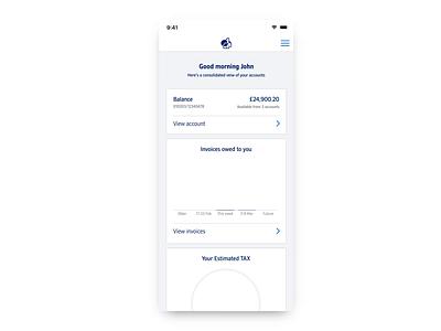 Nationwide Business Banking finance banking app graphs cashflow dashboard fintech banking
