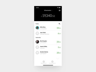 TomatoPay transactions banking banking app bank app credit dashboard ui fintech finance minimal