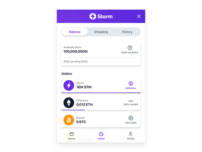 StormShop banking finance fintech wallet app wallet bitcoin ethereum crypto exchange crypto currency crypto wallet extension chrome extension