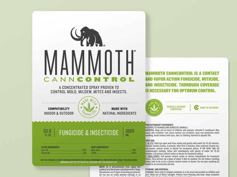 Mammoth Canncontrol Label