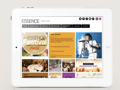 Essence Festival Media Center Website Design