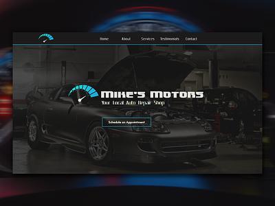 Mike's Motors Concept css jquery webdevelopment webdesign