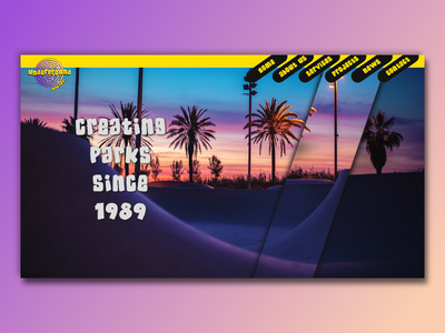 Underground Skate Parks Concept web development web design logodesign css jquery webdevelopment webdesign