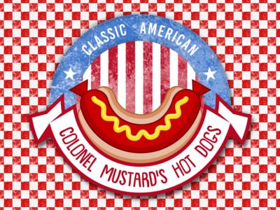 Colonel Mustard's Hot Dogs Logo hotdog hotdogs logodesign logo webdevelopment webdesign