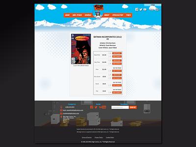 Mile High Comics Redesign Concept webdeveloper webdesigner milehighcomics comics redesign jquery webdevelopment webdesign