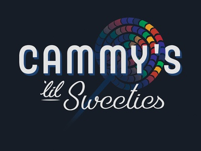 Cammy's Lil Sweeties graphic design design hand lettering lettering