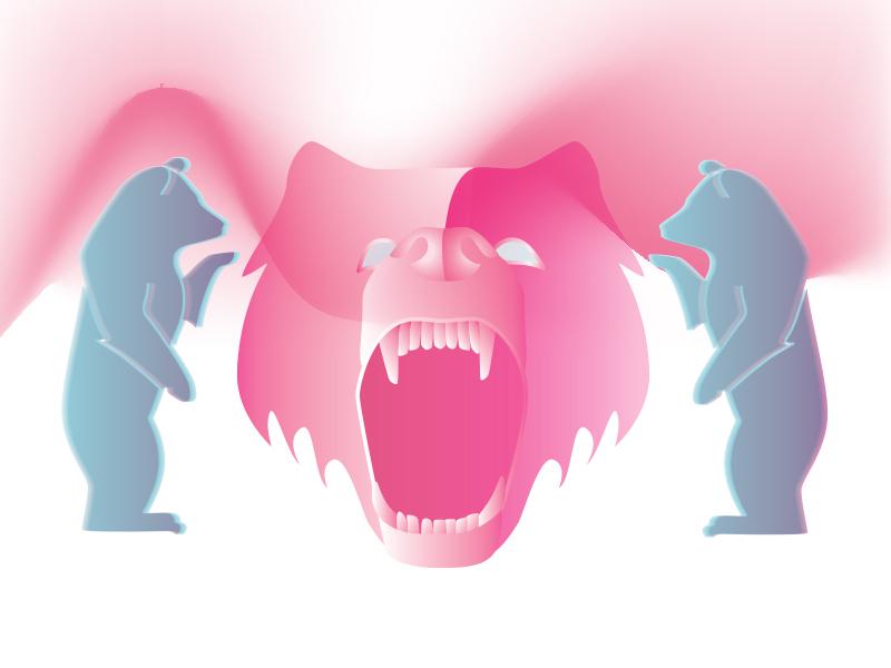 Bloodlines scream music pink album artwork northernlights bear graphic design design illustration