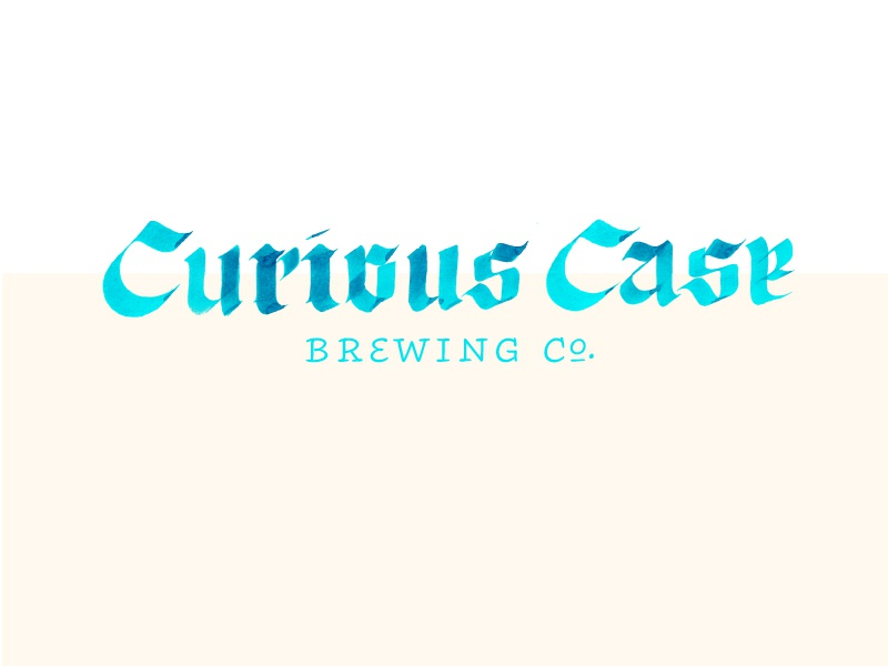 Curious Case brewing craft beer craft beer typography type branding calligraphy logo identity hand lettering lettering