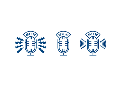 More Than a Few Words podcast icon set graphic design design icon icons