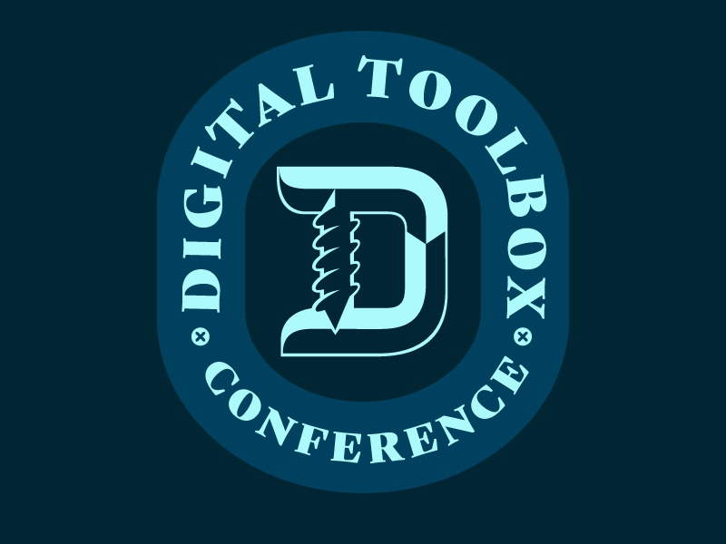 Digital Toolbox Conference identity brand conference badge logo wip
