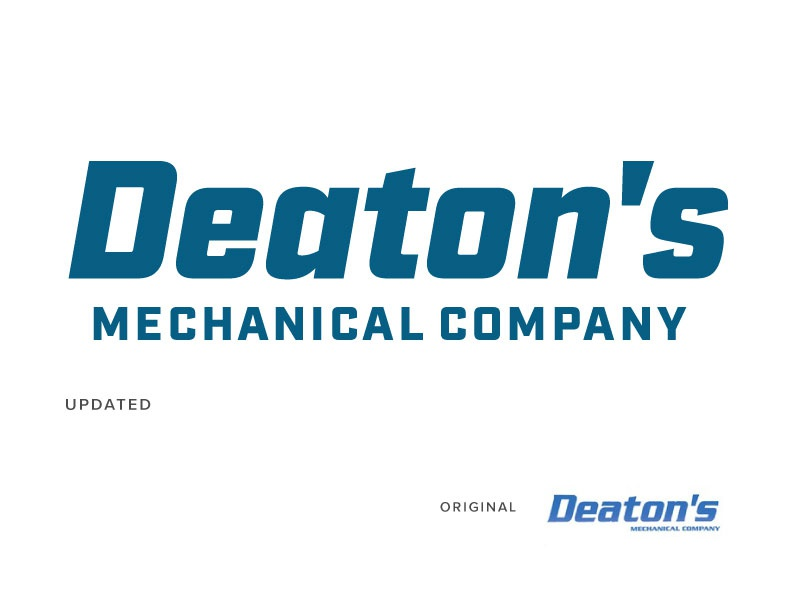 Deaton's commercial contract mechanic graphic design design identity branding logo