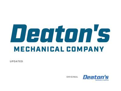 Deaton's commercial contract mechanic graphic design design identity branding logo