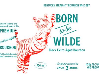 Born to Be Wilde Bourbon packaging design packaging illustration branding identity logo graphic design design bourbon