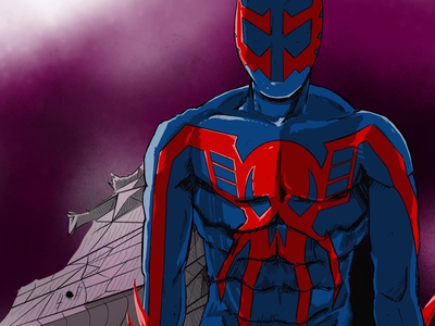 Spider-Man 2099 sketchbook marvel comics creative doodle support local artists follow friends photo of the day like draw artist on dribble arts comic sketch graphic illustration comic art artwork artist art