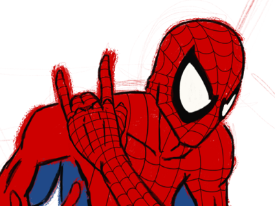 Spider-Man  | instagram.com/joshchrisafis sketchbook artsy creative doodle support local artists follow friends photo of the day like draw artist on dribble arts comic sketch graphic illustration comic art artwork artist art