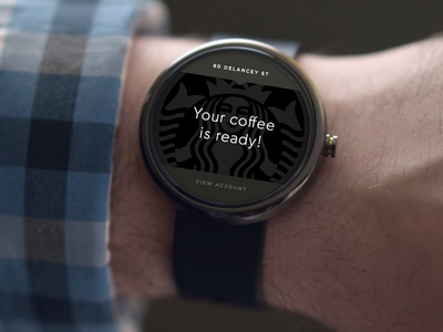 Android Wear - Starbucks Notification