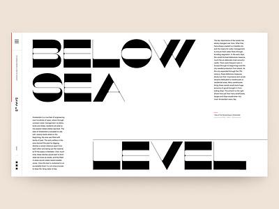 CANALS - Below Sea Level ux typography design website art editorial ui interface interactive