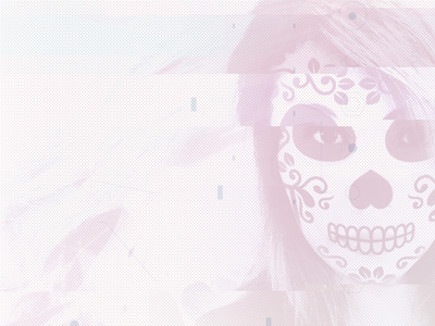 mexican candy skull face glitch scan facepaint mexican skull
