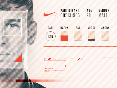 WIP / Branded Facial Expression Analysis Dashboard UI ui nike dashboard interface wip facial detection nike plus product design
