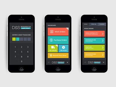 ds refrigeration and hvac mobile app mockup