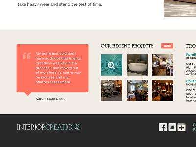 Interior design homepage testimonial gallery thumbnails homepage interior design