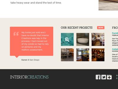 Interior design homepage