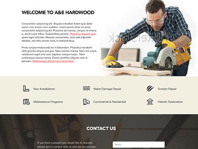 Hardwood Floor site homepage hardware floors construction home repair icons ui ux