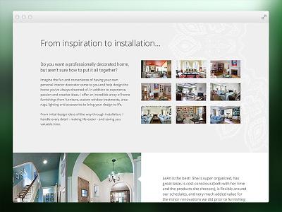 Interior Designer Website interior design interior decorating web design ui design