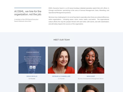 About the Company portrait executive search web design ux ui about the company about us biographies bios about