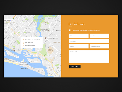 Daily UI #028 - Contact Us map google map web form contact form contact 028 dailyui