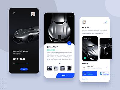 Silver arrow icon app illustration design 类型 品牌 设计 应用 ux ui