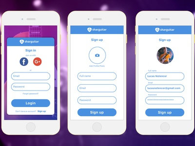 Daily UI - #1 Sign in - Sharguitar sign in uidesign daily ui 001